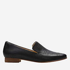 Pure Sense Black Leather womens-flats
