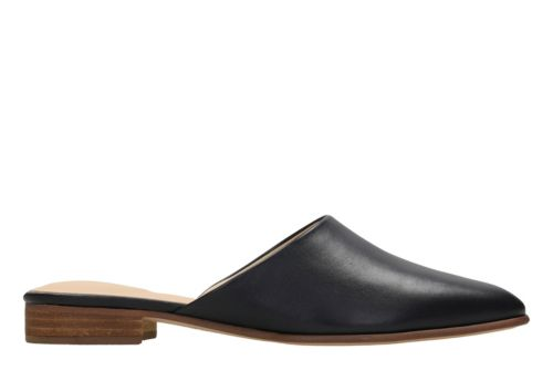 Pure Blush Black Leather womens-clogs