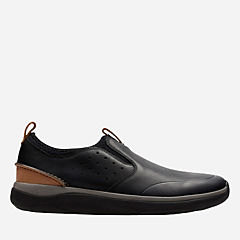 Garratt Slip Black Leather mens-loafer-slip-on
