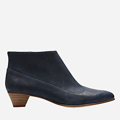Mena Clay Navy Leather womens-heels