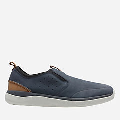 Garratt Slip Navy Nubuck mens-loafer-slip-on