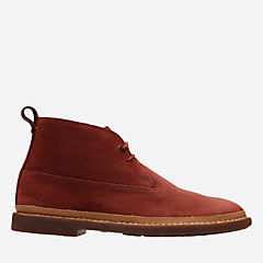 Trace Seam Brick Red Suede mens-boots