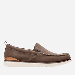 Edgewood Step Taupe Suede mens-loafer-slip-on