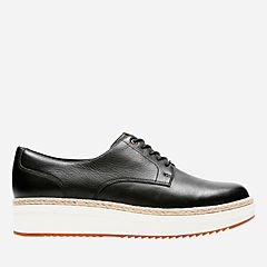 Teadale Rhea Black Leather womens-casual-shoes