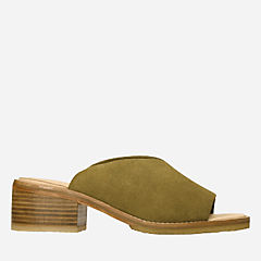 Amara Mule Olive Suede originals-womens-sandals