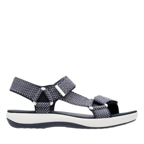 Brizo Cady Navy/White Textile womens-sandals