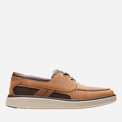 Un Abode Step Dark Tan Leather mens-unstructured