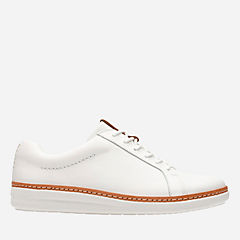 Amberlee Rosa White Leather womens-unstructured