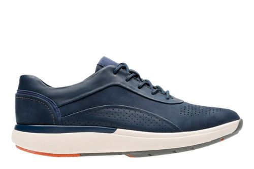 Un Cruise Lace Navy Nubuck/Leather Combi womens-wave-walk