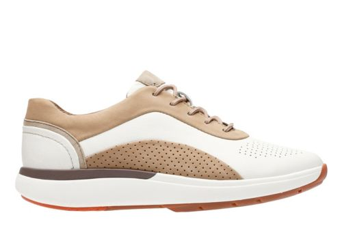 Un Cruise Lace White Lea/Sand Nubuck Combi womens-active