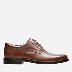 Un Aldric Lace Dark Tan Leather mens-dress-shoes