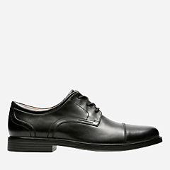 Un Aldric Cap Black Leather mens-dress-shoes