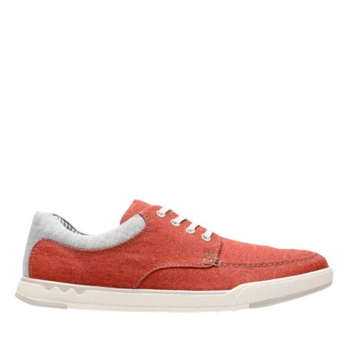 Step Isle Lace Rust Canvas mens-casual-shoes