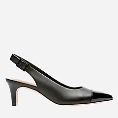 Crewso Emmy Black Leather/Synt Combi womens-heels
