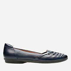 Gracelin Gemma Navy Leather womens-comfort-shoes