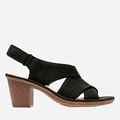 Sashlin Nolte Black Nubuck womens-heels