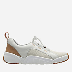 Tri Weave White Leather girls-sneakers