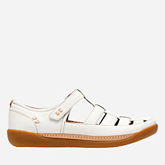 Un Haven Cove White Leather womens-wide-width