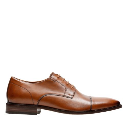 Nantasket Cap Dark Tan Leather mens-dress-shoes