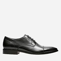 Nantasket Cap Black Leather mens-dress-shoes