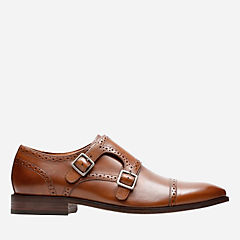 Nantasket Monk Dark Tan Leather mens-bostonian-new-arrivals