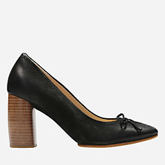 Grace Nina Black Nubuck womens-kitten-heels