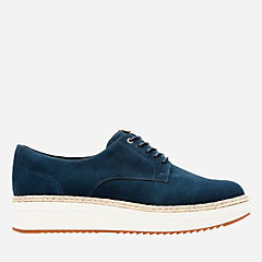 Teadale Rhea Navy Suede womens-casual-shoes