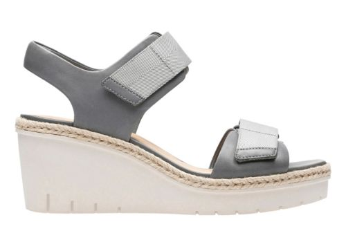 Palm Shine Grey Leather womens-sandals-wedge