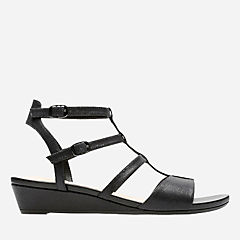 Parram Spice Black Interest Nubuck womens-sandals-wedge
