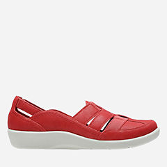 Sillian Stork Red Synthetic Nubuck womens-comfort-shoes