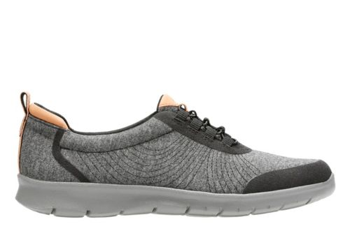 Step Allenabay Black Heathered Fabric womens-active