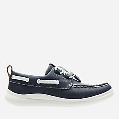 Cloud Swing Navy Leather boys-youth