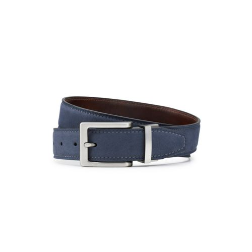 Men's Reversible Suede Belt Navy mens-accessories