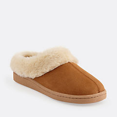 Cow Suede Clog Slipper Cinnamon Suede womens-slippers