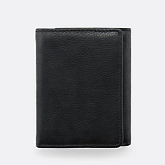 Trifold Wallet Black Leather sale-new-markdowns