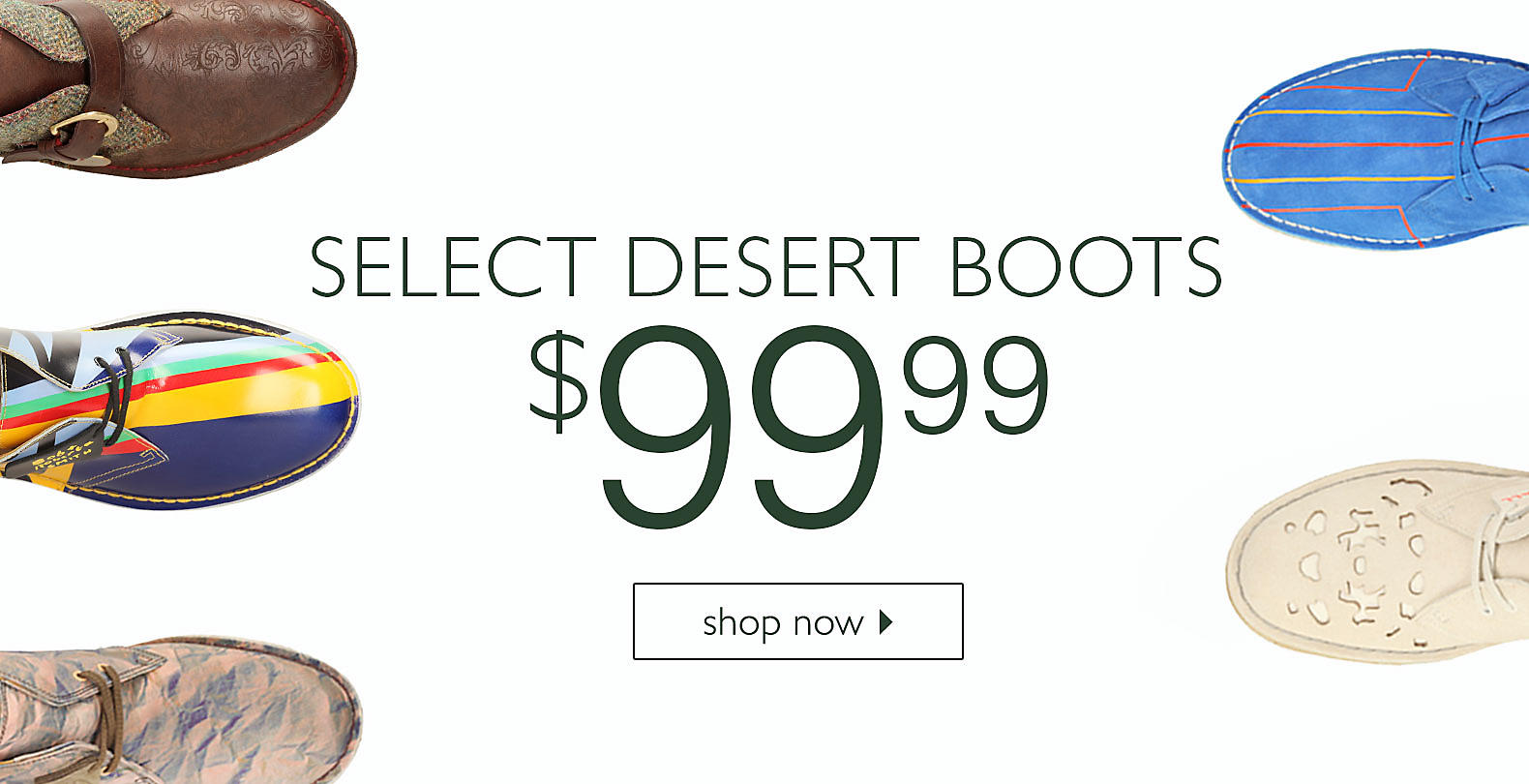 Shop Select Desert Boots for $99.99