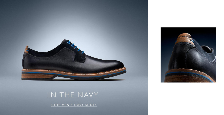 Shop Clarks Mens Blue Shoes!