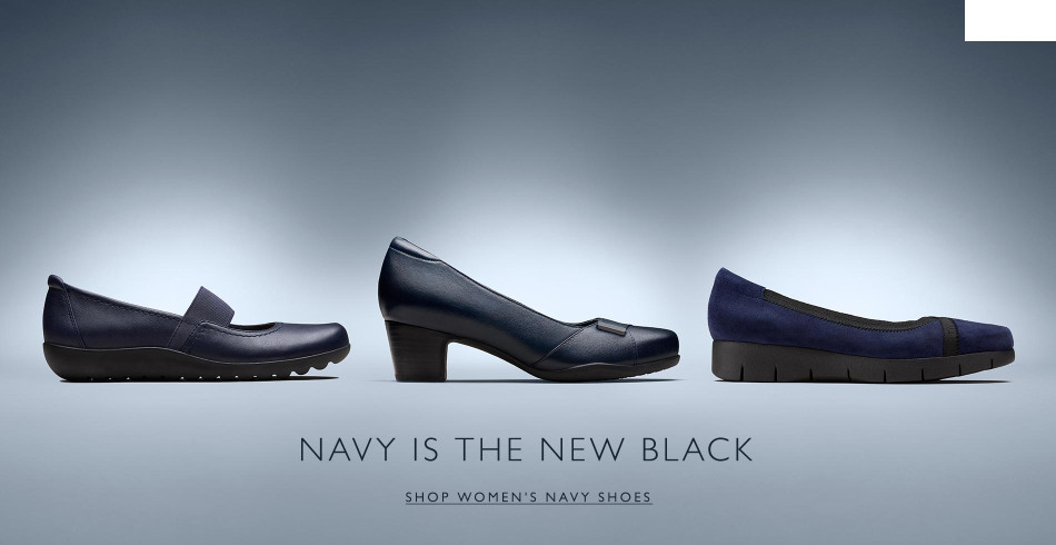 Shop Clarks Womens Navy Shoes!