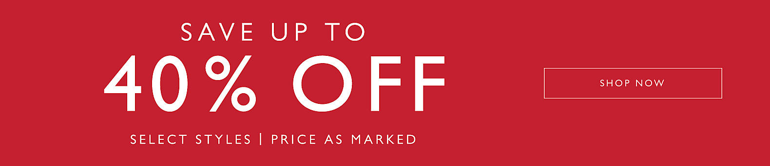 Save Up to 40% Off