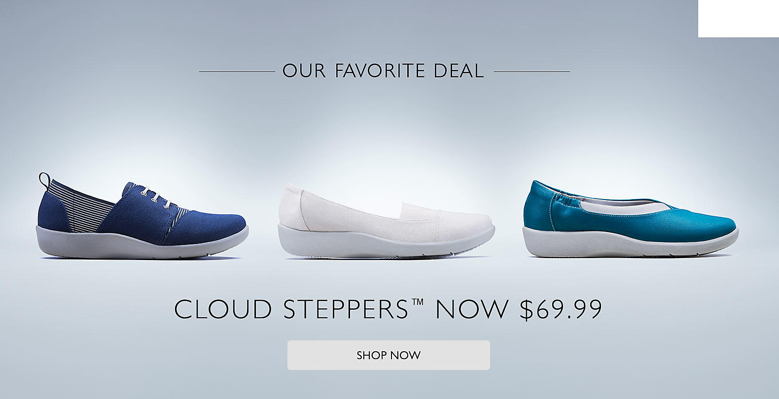Shop Clarks $69.99 Cloud Steppers