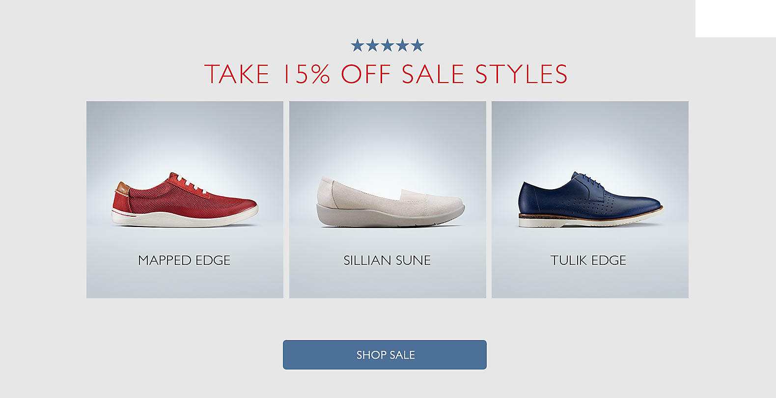Shop Clarks Memorial Day Sale