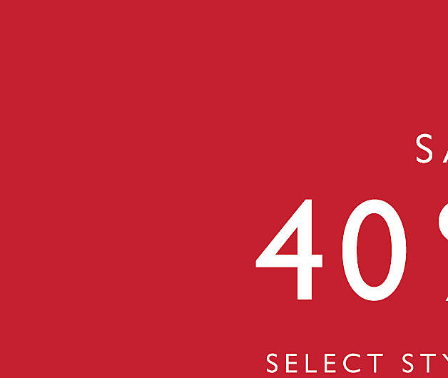 Up to 40% Off Select Styles