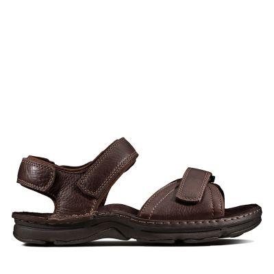 15c38958773f5 ATL Part. Mens Sandals. dark brown leather