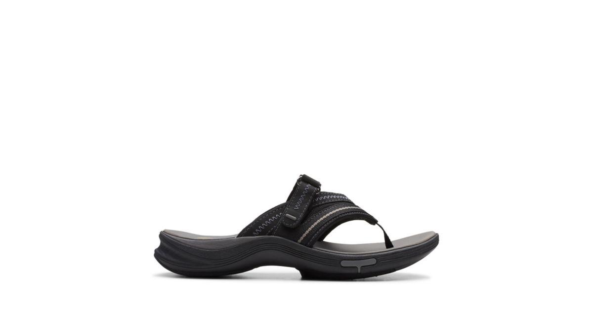d0db9f61313b Wave.Coast Black Nubuck - Womens Medium Width Shoes - Clarks® Shoes  Official Site