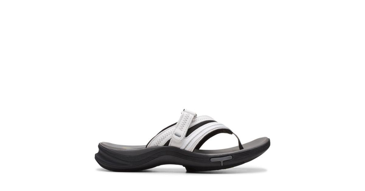 decc319b9835 Wave.Coast White Leather - Womens Medium Width Shoes - Clarks® Shoes  Official Site