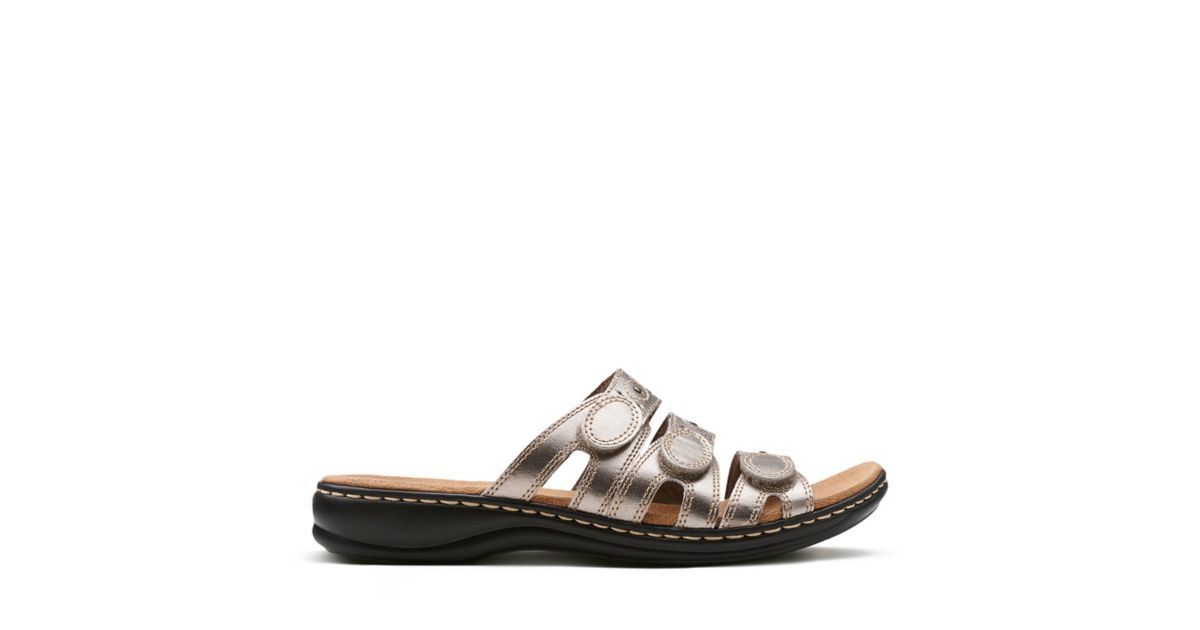 589abc6bdc86 Leisa Cacti Q Pewter Leather - Shoes for Women - Clarks® Shoes Official  Site