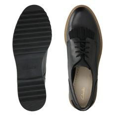 5e472fb712a0c Griffin Mabel Black Leather - Clarks Women's Shoes - Clarks® Shoes ...