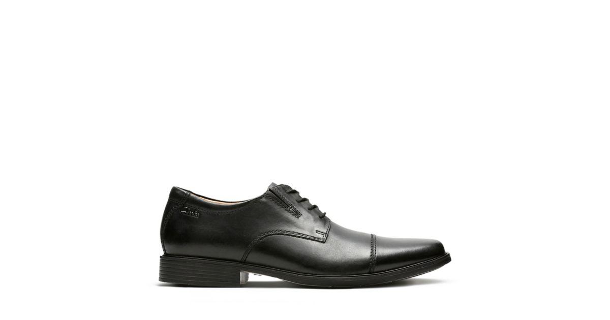 16f62183205d Tilden Cap Black Leather - Clarks® Shoes Official Site | Clarks