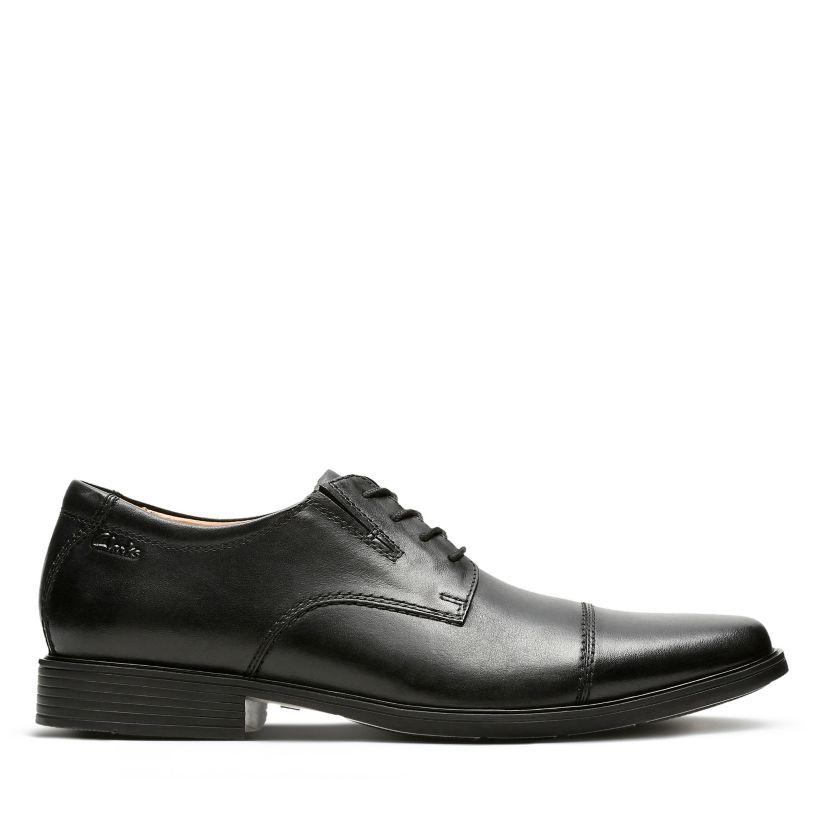 Klassiker Clarks Tilden Cap Toe Oxford Schwarz Sneakers