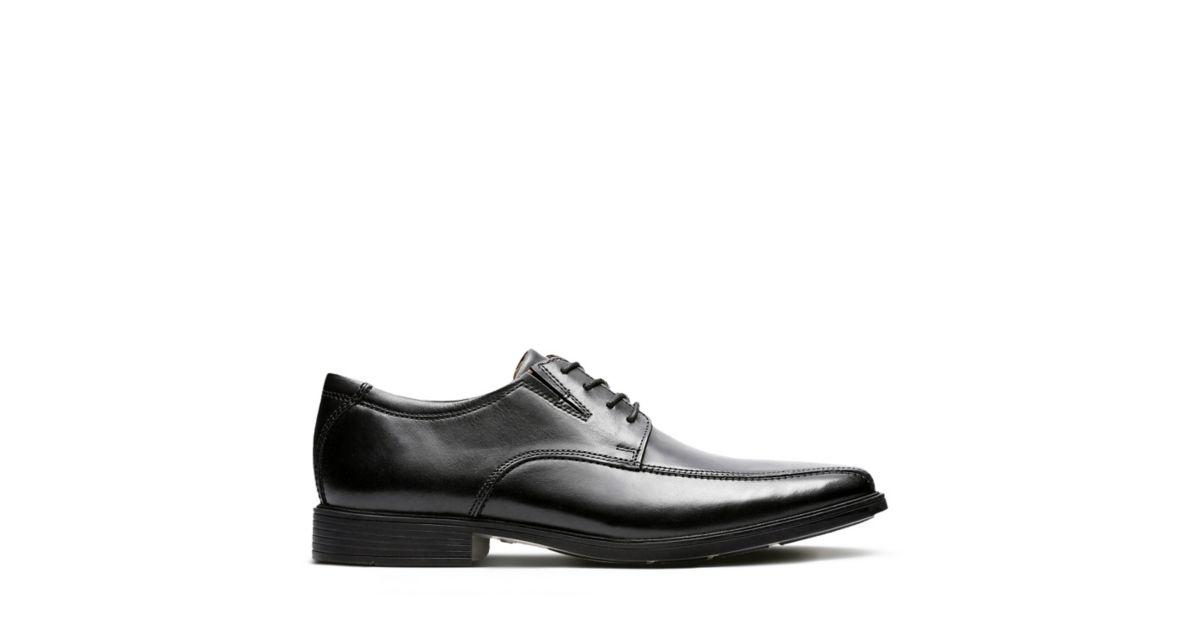 8206006914f Tilden Walk Black Leather - Men s Black Edit - Clarks® Shoes Official Site